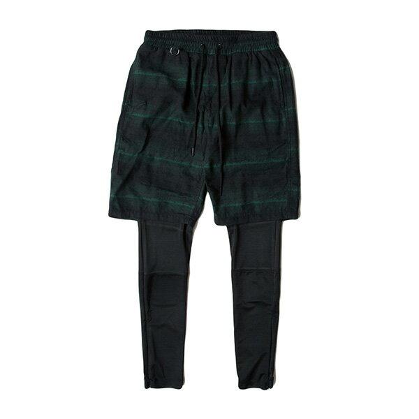 【EST】PUBLISH D1 JUDO 兩件式 內搭 束褲 長褲 法蘭絨 短褲 墨綠 [PL-5355-035] F1102 0