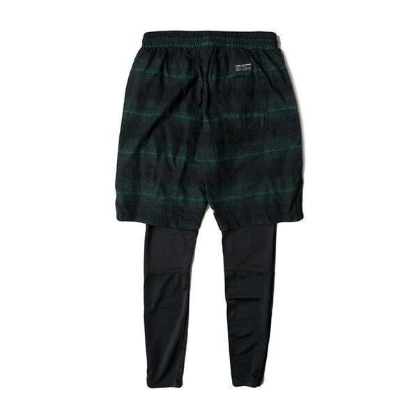 【EST】PUBLISH D1 JUDO 兩件式 內搭 束褲 長褲 法蘭絨 短褲 墨綠 [PL-5355-035] F1102 1