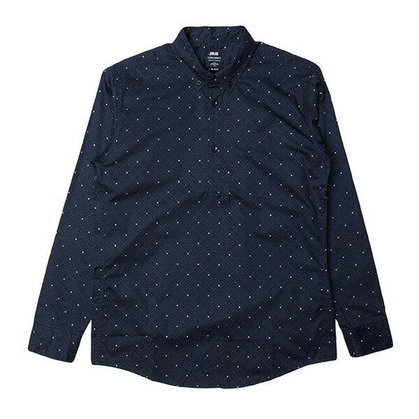 【EST】PUBLISH D1 STANLEY 3M反光 點點 格紋 防水 抗汙 長袖 襯衫 深藍 [PL-5356-086] F1102 0
