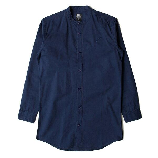 【EST】PUBLISH D1 SANDON 長版 圓領 長袖 襯衫 深藍 [PL-5357-086] F1102 0
