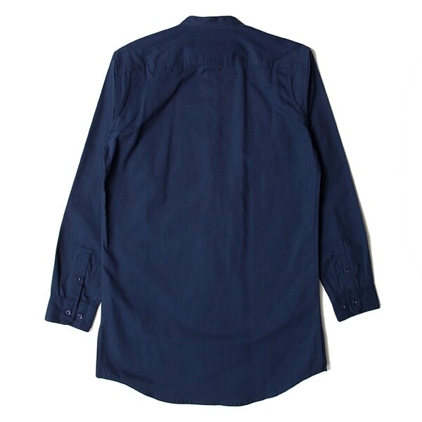【EST】PUBLISH D1 SANDON 長版 圓領 長袖 襯衫 深藍 [PL-5357-086] F1102 1