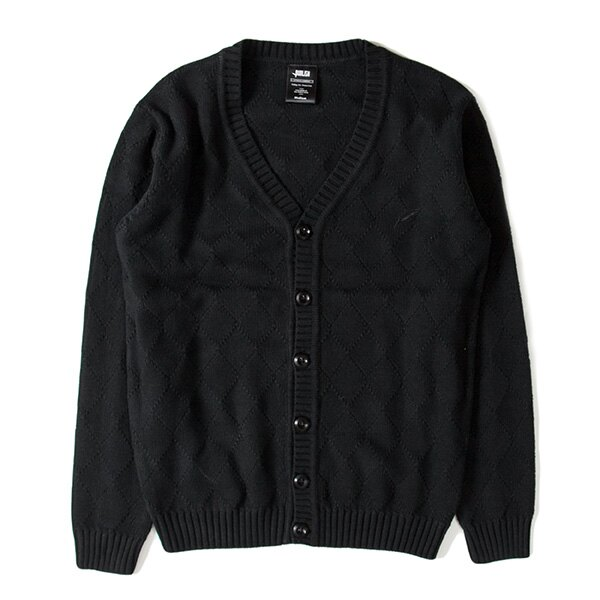 【EST】PUBLISH D1 DELLY 針織 菱格紋 開襟 毛衣 外套 黑 [PL-5360-002] F1102 0