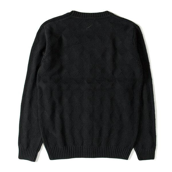 【EST】PUBLISH D1 DELLY 針織 菱格紋 開襟 毛衣 外套 黑 [PL-5360-002] F1102 1