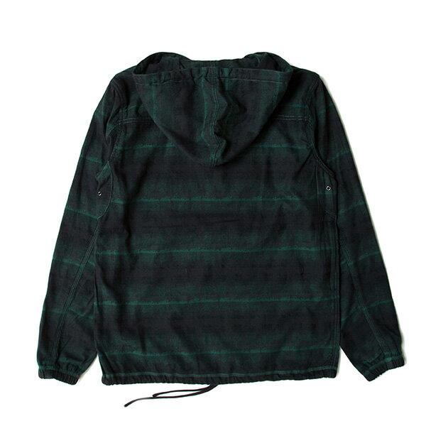 【EST】PUBLISH D1 ZACK 民族風 條紋 法蘭絨 重磅 連帽 帽TEE 墨綠 [PL-5363-035] F1102 1