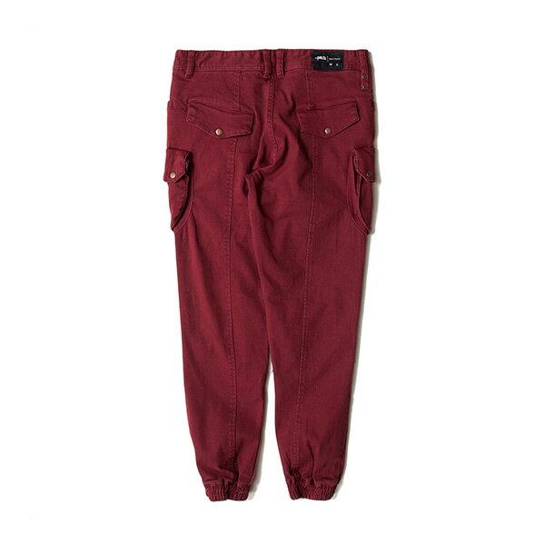 【EST】PUBLISH D1 CROW 水洗 破壞 大口袋 工作褲 長褲 束口褲 紅 [PL-5367-072] F1102 1