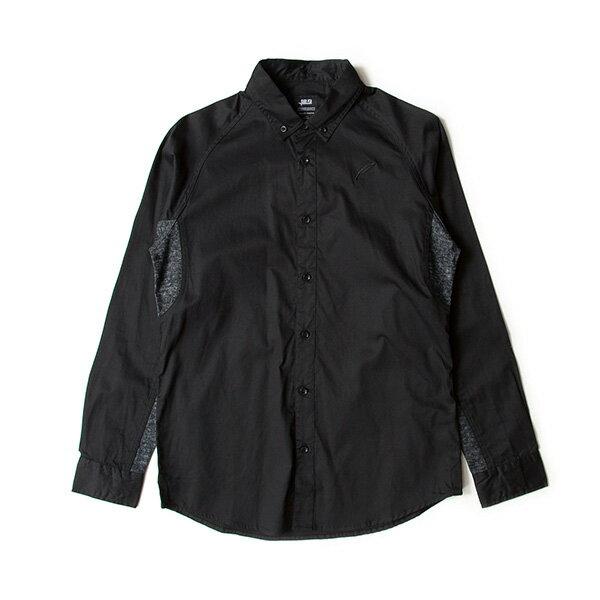 【EST】PUBLISH D1 MARVIN 拼接 雪花紋 長袖 襯衫 黑 [PL-5370-002] F1102 0