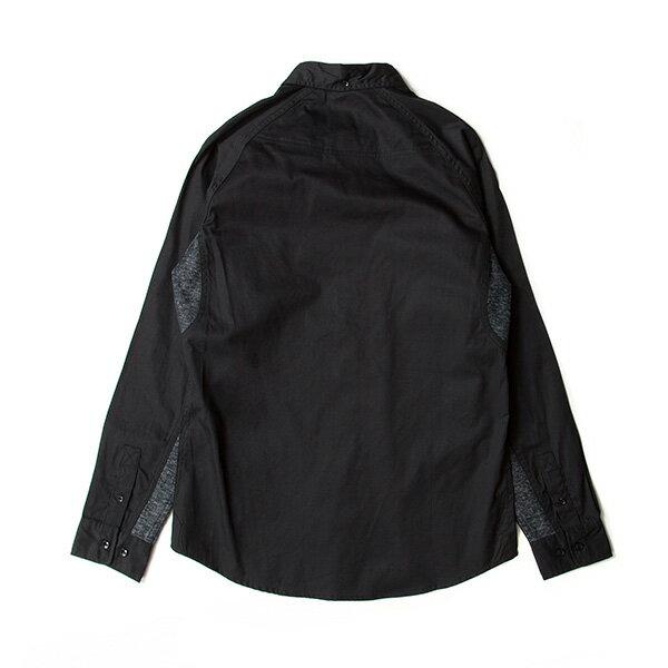 【EST】PUBLISH D1 MARVIN 拼接 雪花紋 長袖 襯衫 黑 [PL-5370-002] F1102 1