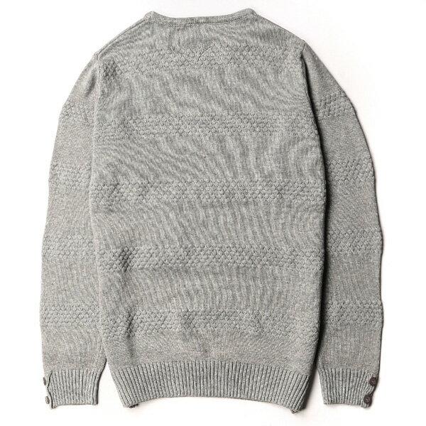 【EST】PUBLISH NEIL D1 壓紋 滾邊 針織 毛衣 長TEE 灰 [PL-5372-007] F1104 1