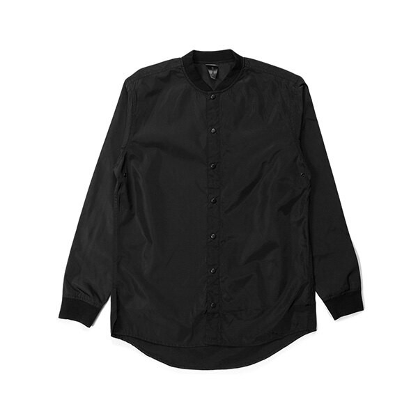 【EST】PUBLISH MONO 3 CORVUS 羅紋 潛水布 長袖 襯衫 黑 [PL-5385-002] G0126 0