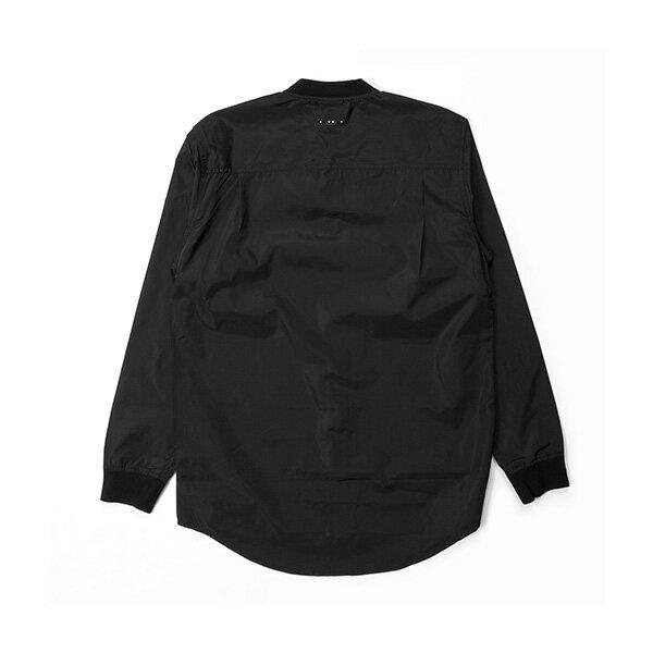 【EST】PUBLISH MONO 3 CORVUS 羅紋 潛水布 長袖 襯衫 黑 [PL-5385-002] G0126 1