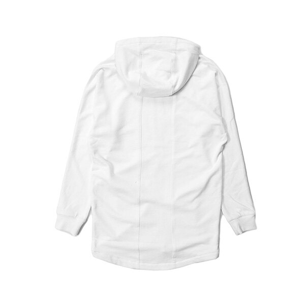 【EST】PUBLISH MONO 3 HYDRA 長版 連帽外套 帽夾 白 [PL-5390-001] G0126 1