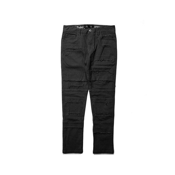 【EST】PUBLISH OGDEN 破壞 窄版 直筒褲 長褲 黑 [PL-5408-002] G0503 0