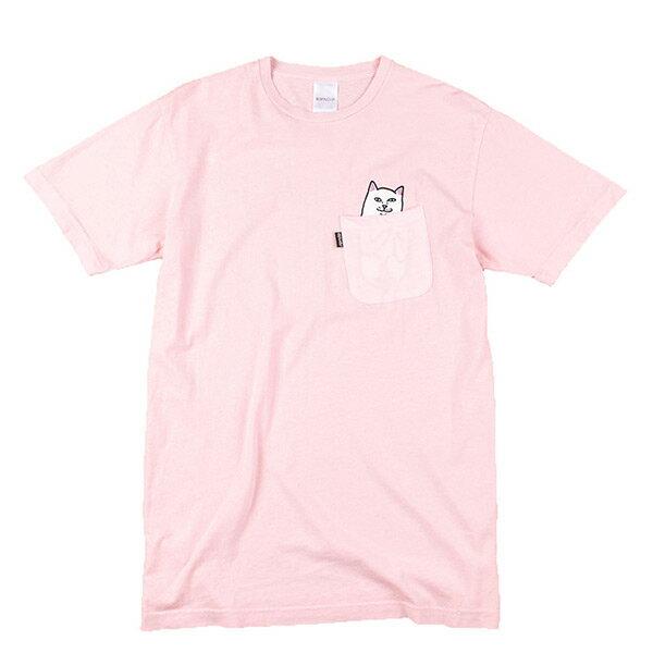 【EST】RIPNDIP LORD NERMAL 中指貓 口袋 短TEE 粉紅 [RD-0002-066] G0910 0