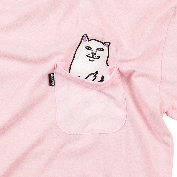 【EST】RIPNDIP LORD NERMAL 中指貓 口袋 短TEE 粉紅 [RD-0002-066] G0910 1