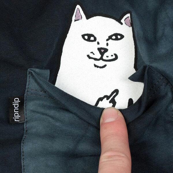 【EST】RIPNDIP LORD NERMAL 中指貓 口袋 短TEE 渲染淺藍 [RD-0002-082] G0910 1