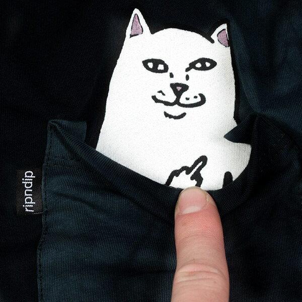 【EST】Ripndip Lord Nermal 中指貓 口袋 短tee 渲染藍 [RD-0002-083] G0910 1