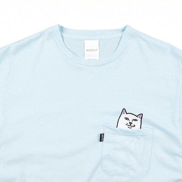 【EST】RIPNDIP LORD NERMAL 中指貓 口袋 短TEE 水藍 [RD-0002-084] G0811 2