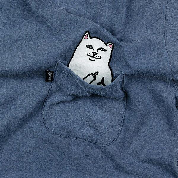 【EST】Ripndip Lord Nermal 中指貓 口袋 短tee 藍 [RD-0002-085] G0811 1