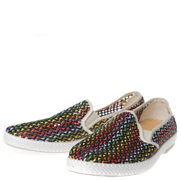 【EST】RIVIERAS 30度° 3122 洞洞 編織 懶人鞋 彩虹 白底 [RV-3122-001] F0406 1