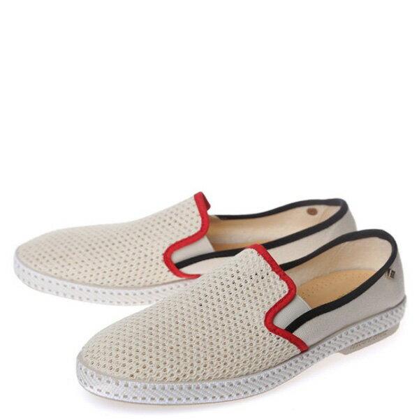 【EST】RIVIERAS 20度° 9201 半洞洞 懶人鞋 米白底 紅黑線 [RV-9201-001] F0330 1
