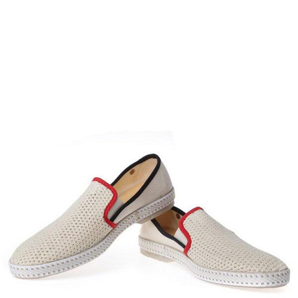 【EST】RIVIERAS 20度° 9201 半洞洞 懶人鞋 米白底 紅黑線 [RV-9201-001] F0330 2