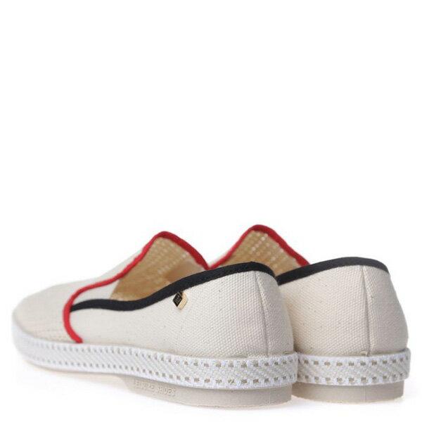 【EST】RIVIERAS 20度° 9201 半洞洞 懶人鞋 米白底 紅黑線 [RV-9201-001] F0330 3