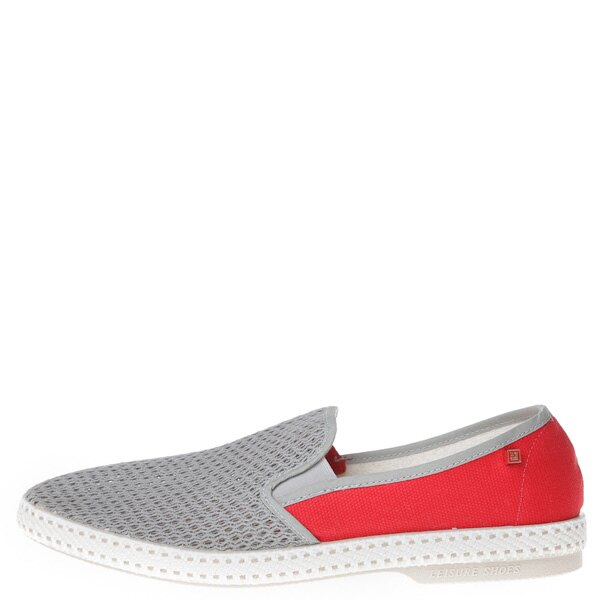 【EST】Rivieras 20度° 9206 半洞洞 拼接 懶人鞋 灰紅 [RV-9206-007] F0406 0