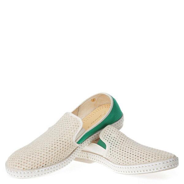 【EST】RIVIERAS 20度° 9207 半洞洞 拼接 懶人鞋 白綠 [RV-9207-001] F0406 2