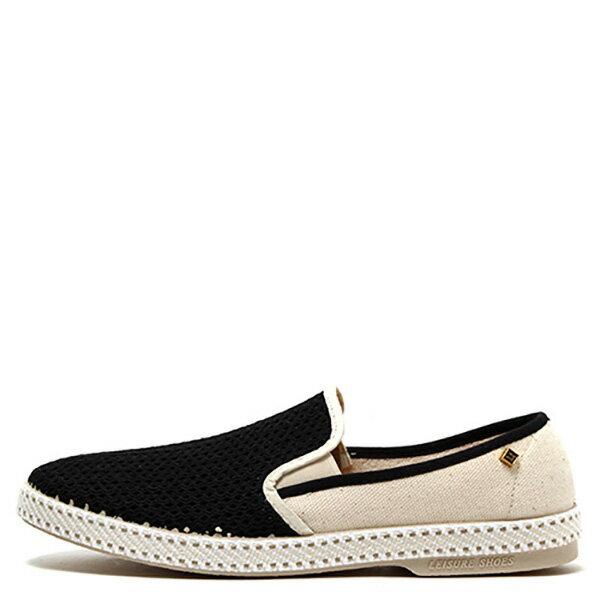 【EST】Rivieras 20度° 9211 半洞洞 拼接 懶人鞋 黑白 [RV-9211-002] F0330 0