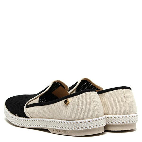 【EST】Rivieras 20度° 9211 半洞洞 拼接 懶人鞋 黑白 [RV-9211-002] F0330 2