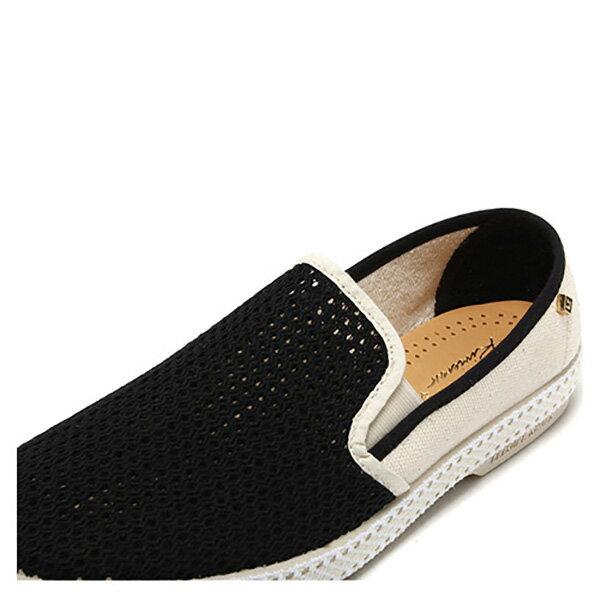 【EST】Rivieras 20度° 9211 半洞洞 拼接 懶人鞋 黑白 [RV-9211-002] F0330 3