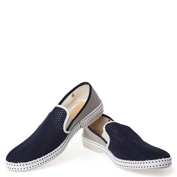 【EST】RIVIERAS 20度° 9212 半洞洞 拼接 懶人鞋 深藍灰 [RV-9212-086] F0330 2