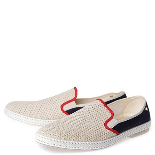 【EST】Rivieras 20度° 9225 半洞洞 拼接 懶人鞋 米混藍 [RV-9225-723] F0330 1