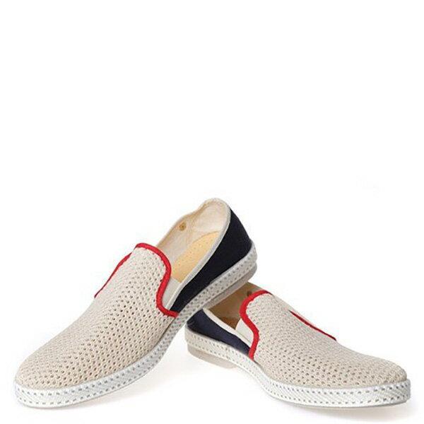【EST】Rivieras 20度° 9225 半洞洞 拼接 懶人鞋 米混藍 [RV-9225-723] F0330 2