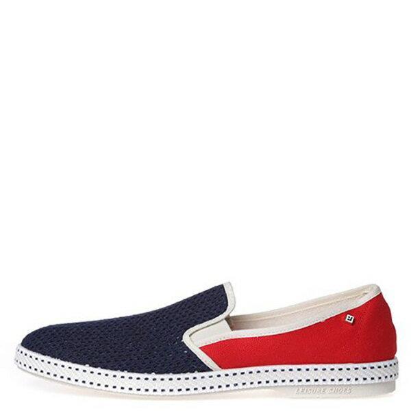 【EST】RIVIERAS 20度° 9999 半洞洞 拼接 懶人鞋 藍紅 [RV-9999-169] F0330 0