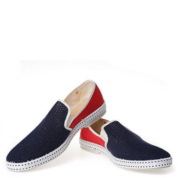 【EST】RIVIERAS 20度° 9999 半洞洞 拼接 懶人鞋 藍紅 [RV-9999-169] F0330 2
