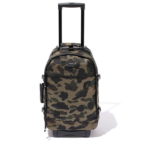 【EST O】A Bathing Ape 1St Camo Travel Luggage (Cordura) 登機箱 墨綠 G0908 0