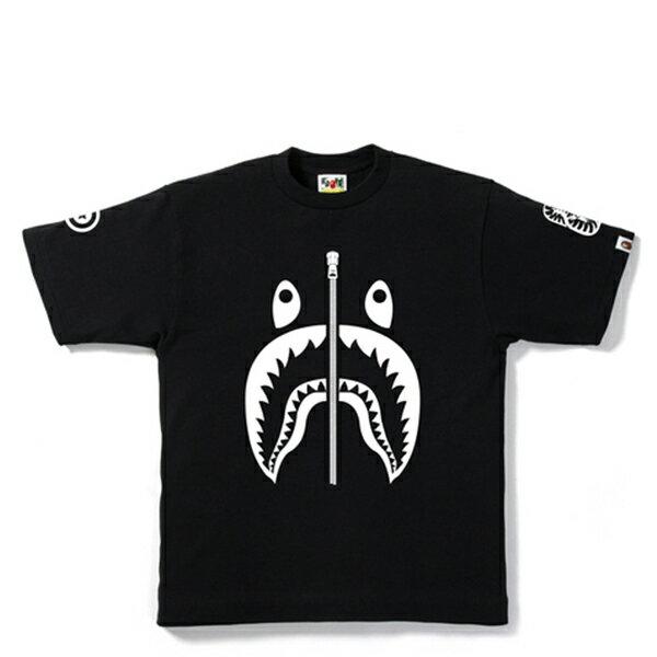 【EST O】A BATHING APE SHARK 鯊魚短TEE #1 黑 G0908
