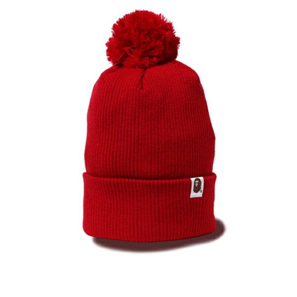 【EST O】A BATHING APE KNIT CAP 毛帽 紅 G1004