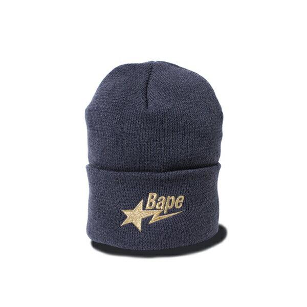 【EST O】A BATHING APE BAPE STA KNIT CAP 毛帽 灰 G1004