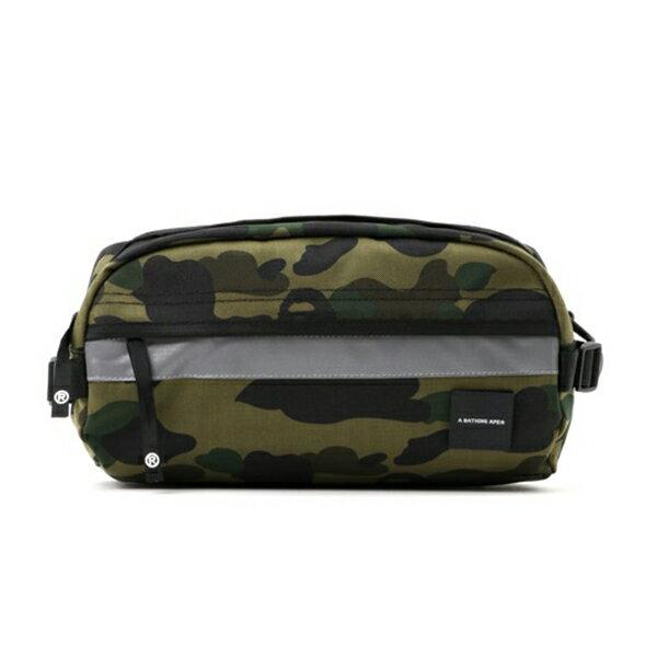 【EST O】A Bathing Ape 1St Camo Reflective Waist Bag M (Cordura) 腰包 綠 G0908 0
