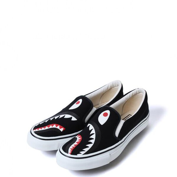 【EST O】A Bathing Ape Shark Slip On 鯊魚懶人鞋 黑 G1004 0