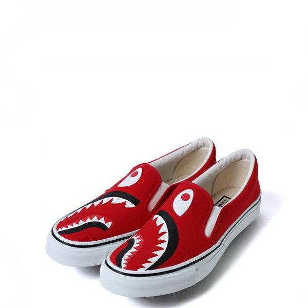 【EST O】A Bathing Ape Shark Slip On 鯊魚懶人鞋 紅 G1004 0