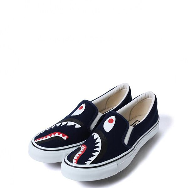【EST O】A Bathing Ape Shark Slip On 鯊魚懶人鞋 藍 G1004 0