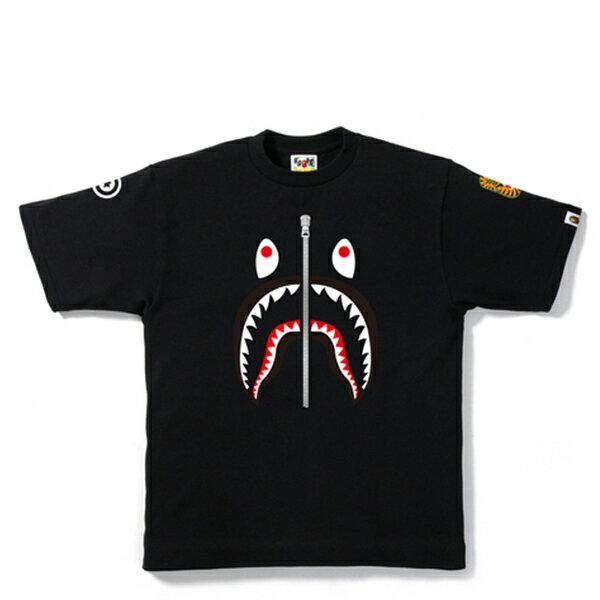 【EST O】A BATHING APE SHARK 鯊魚短TEE #2 黑 LADIES G0908
