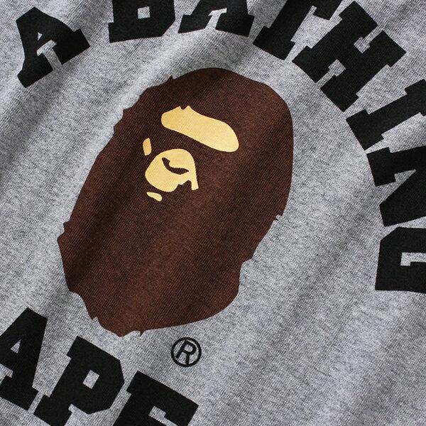 【EST O】A Bathing Ape Pigment College 短tee 灰 G0908 1