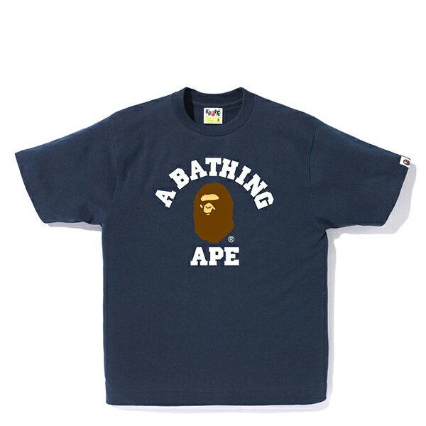 【EST O】A BATHING APE PIGMENT COLLEGE 短TEE 藍 G0908
