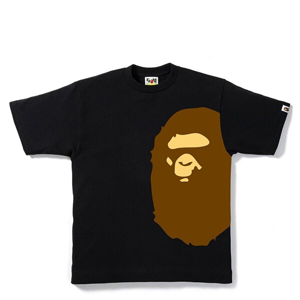 【EST O】A BATHING APE PIGMENT SIDE BIG APE HEAD TEE 黑 G0908 0