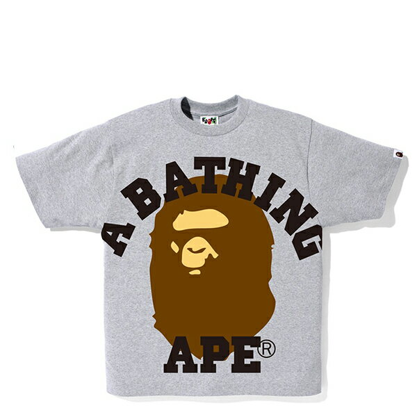 【EST O】A BATHING APE FACE OVER COLLEGE TEE 灰 G0908 0