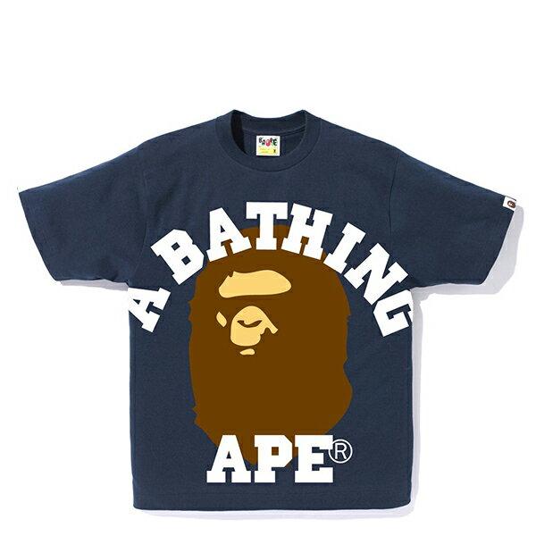 【EST O】A BATHING APE FACE OVER COLLEGE TEE 藍 G0908